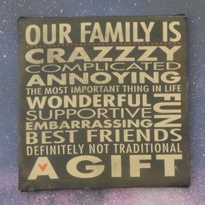 """""""Our family is..."""" Canvas Wall Art Decor"""